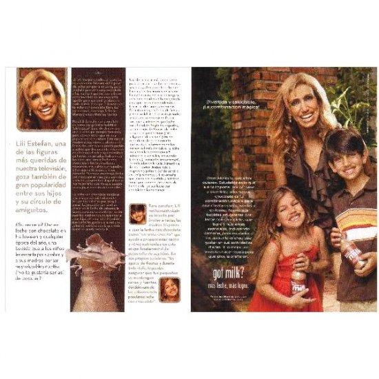 LILI ESTEFAN Y SUS HIJOS got milk? Milk Mustache Magazine Ad © 2007 SPANISH TEXT 2pp