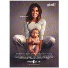 MARISKA HARGITAY & HER SON AUGUST got milk? Milk Mustache Magazine Ad © 2007