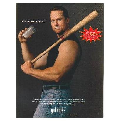 MARK MCGWIRE WITH GOOD SPORT FLASH got milk? Milk Mustache Magazine Ad © 1998