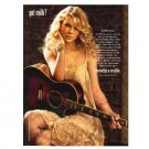 TAYLOR SWIFT got milk? Milk Mustache Magazine Ad © 2008