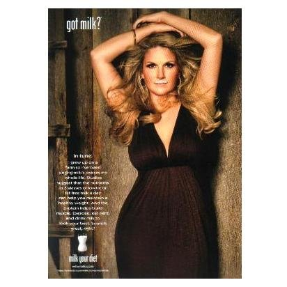 TRISHA YEARWOOD got milk? Milk Mustache Magazine Ad © 2008