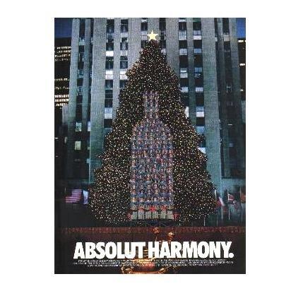 ABSOLUT HARMONY Vodka Magazine Ad