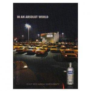 IN AN ABSOLUT WORLD Vodka Magazine Ad BAR 72