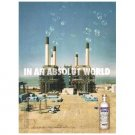 IN AN ABSOLUT WORLD Vodka Magazine Ad SMOKESTACK BUBBLES