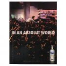 IN AN ABSOLUT WORLD Vodka Magazine Ad CROWD SURFING