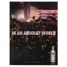 IN AN ABSOLUT WORLD Vodka Magazine Ad CROWD SURFING