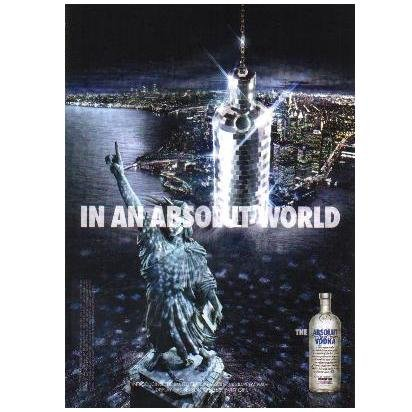 IN AN ABSOLUT WORLD Vodka Magazine Ad DISCO