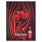 IN AN ABSOLUT WORLD Vodka Magazine Ad TRUE TASTE COMES NATURALLY - RASPBERRI