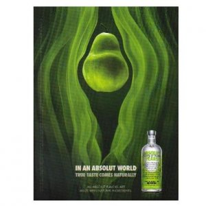 IN AN ABSOLUT WORLD Vodka Magazine Ad TRUE TASTE COMES NATURALLY � PEARS