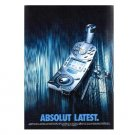 ABSOLUT LATEST Vodka Magazine Ad