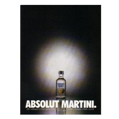 ABSOLUT MARTINI Vodka Magazine Ad