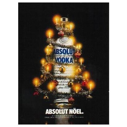 ABSOLUT N�EL Vodka Magazine Ad SPELLING ERROR