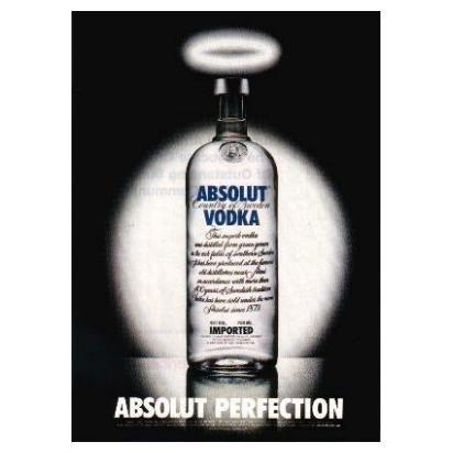 ABSOLUT PERFECTION Vodka Magazine Ad