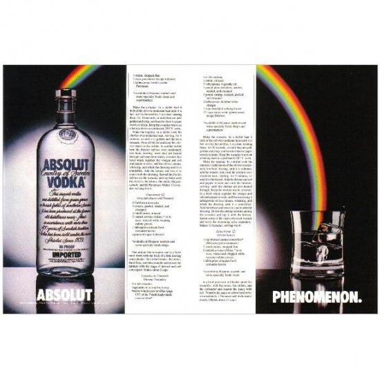 ABSOLUT PHENOMENON Vodka Magazine Ad LEAPING RAINBOW 2pp