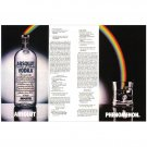 ABSOLUT PHENOMENON Vodka Magazine Ad LEAPING RAINBOW 2pp