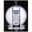 ABSOLUT DÉJÀ VU Vodka Magazine Ad