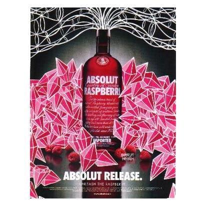 ABSOLUT RELEASE Vodka Magazine Ad MAYA HAYUK