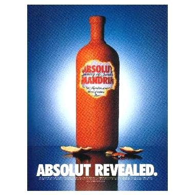 ABSOLUT REVEALED Vodka Magazine Ad