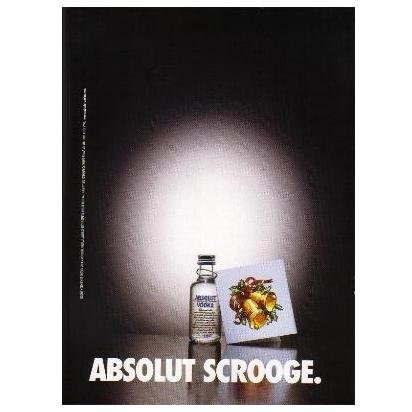 ABSOLUT SCROOGE Vodka Magazine Ad
