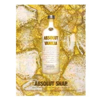 ABSOLUT SNAP Vodka Magazine Ad
