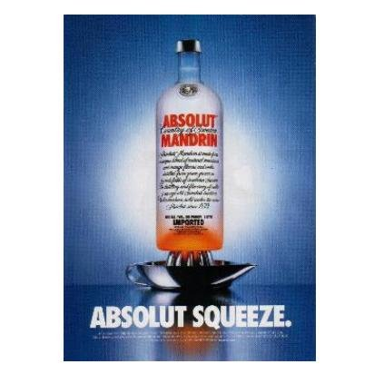 ABSOLUT SQUEEZE Vodka Magazine Ad MANDRIN