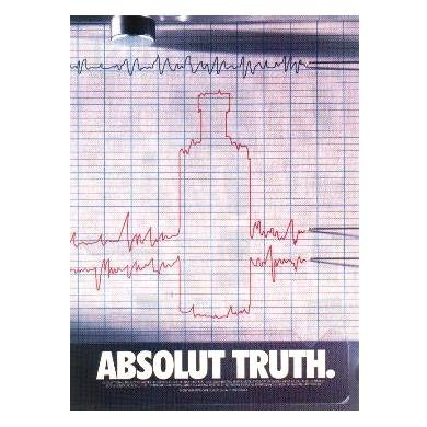 ABSOLUT TRUTH Vodka Magazine Ad LIE DETECTOR