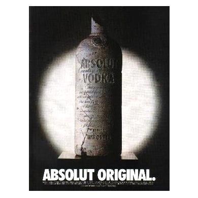 ABSOLUT ORIGINAL Vodka Magazine Ad