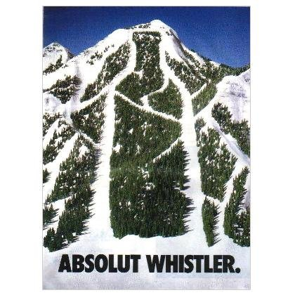 ABSOLUT WHISTLER Vodka Magazine Ad