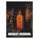ABSOLUT ROSEBUD Vodka Magazine Ad