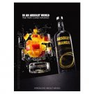 IN AN ABSOLUT WORLD Vodka Magazine Ad TRUE TASTE COMES NATURALLY – MANGO (Exploding Glass)