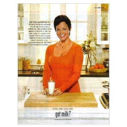 ELLIE KRIEGER got milk? Milk Mustache Magazine Ad © 2009