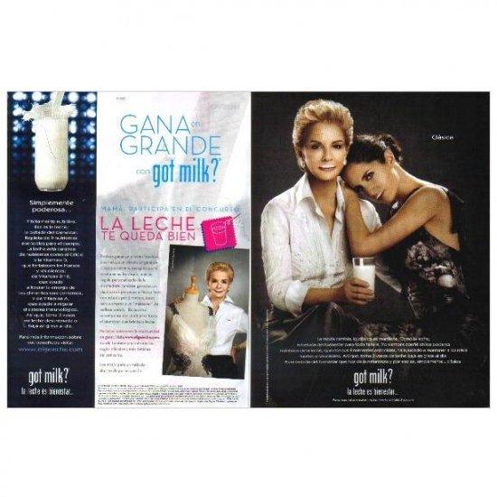CAROLINA HERRERA & CAROLINA HERRERA DE BAEZ got milk? Milk Magazine Ad © 2009 SPANISH TEXT 2pp
