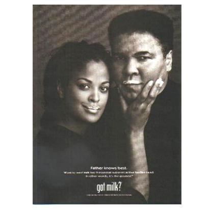 MUHAMMAD & LAILA ALI got milk? Milk Mustache Magazine Ad © 2001