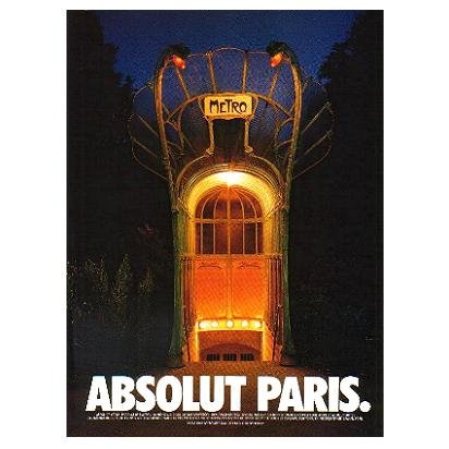 ABSOLUT PARIS Vodka Magazine Ad
