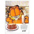 GARFIELD got milk? Milk Mustache Magazine Ad © 1998