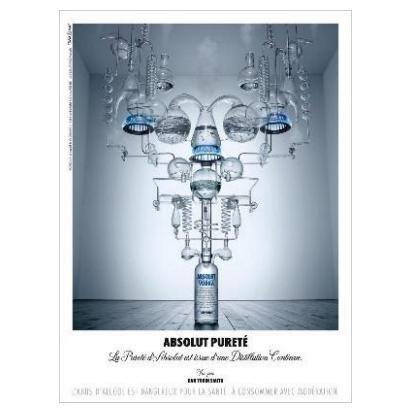 ABSOLUT PURET� Vodka Magazine Ad FRENCH TEXT