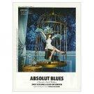 ABSOLUT BLUES Vodka Magazine Ad