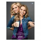 GOOD LUCK CHARLIE Leigh-Allyn Baker & Bridgit Mendler got milk? Milk Mustache Ad © 2011