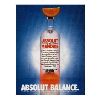 ABSOLUT BALANCE Vodka Magazine Ad