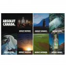 ABSOLUT CANADA Vodka Magazines Ad SET OF 8 POSTCARDS