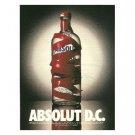 ABSOLUT D.C. Vodka Magazine Ad