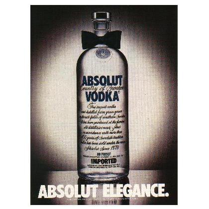 ABSOLUT ELEGANCE Vodka Magazine Ad