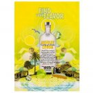 FIND YOUR FLAVOR Absolut Citron Vodka Magazine Ad