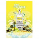 FIND YOUR FLAVOUR Absolut Citron Vodka Magazine Ad BRITISH SPELLING