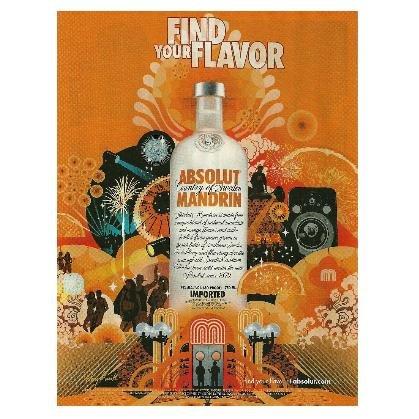 FIND YOUR FLAVOR Absolut Mandrin Vodka Magazine Ad