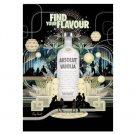 FIND YOUR FLAVOUR Absolut Vanilia Vodka Magazine Ad BRITISH SPELLING