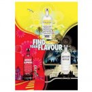 FIND YOUR FLAVOUR Absolut 3 Flavour Vodka Magazine Ad BRITISH SPELLING