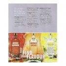 FIND YOUR FLAVOUR Absolut 3 Flavour Vodka Ad BRITISH SPELLING 1/2 PAGE