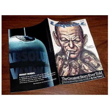 4 Different ABSOLUT HERITAGE Vodka Ads in Esquire Booklet FRANK SINATRA