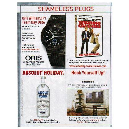 ABSOLUT HOLIDAY 1/4-Page Vodka Magazine Ad